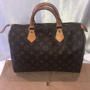 Louis Vuitton brown monogram speedy handbag